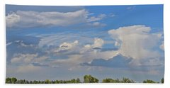 Clouds Aboive The Tree Farm Beach Towel