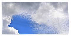 Beach Towel featuring the photograph Clouds And Blue Skies by Tara Potts