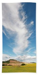 Clouds And Canola Beach Towel