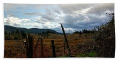 Beach Towel featuring the photograph Clouds And Field by Chriss Pagani
