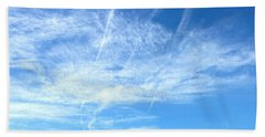 Clouds And Sky Beach Towel