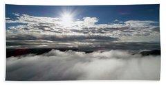 Clouds And Sun Beach Towel