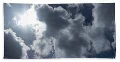 Clouds And Sunlight Beach Towel