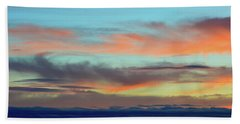 Clouds At Different Altitudes  Beach Sheet by Lyle Crump