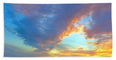 Clouds At Sunset Beach Sheet by Betty Buller Whitehead