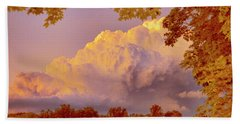 Clouds At Sunset, Southeastern Pennsylvania Beach Towel by A Gurmankin