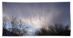 Clouds In Desert Beach Towel by Mordecai Colodner