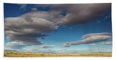 Clouds In Fields Oregon Beach Towel