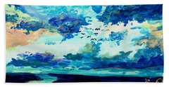 Clouds Beach Sheet by Melinda Dare Benfield