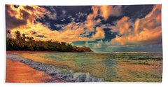 Clouds On Fire Beach Sheet