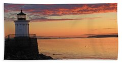 Clouds On Fire Beach Towel