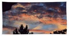 Clouds Or Sun ? Beach Sheet by Kathy Eickenberg