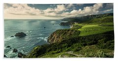 Clouds Over Bixby Bridge Beach Towel