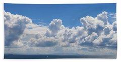 Clouds Over Catalina Island - Panorama Beach Towel