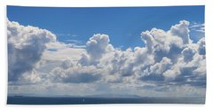 Clouds Over Catalina Island - Panorama Beach Sheet