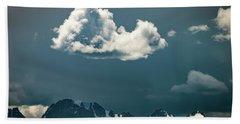 Clouds Over Glacier, Banff Np Beach Sheet