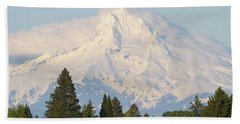 Clouds Over Mount Hood Closeup Beach Towel