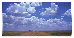 Clouds Over Prairie Amarillo Tx Beach Towel