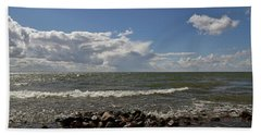 Clouds Over Sea Beach Towel