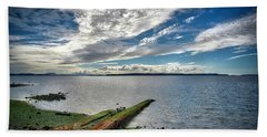 Clouds Over The Bay Beach Towel