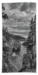 Clouds Over The Cliffs Beach Towel
