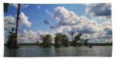Clouds Over The Louisiana Bayou Beach Towel