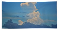 Beach Towel featuring the photograph Clouds Over Tybee Island by Tara Potts