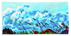 Clouds Over Vilano Beach Beach Towel