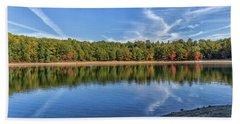 Clouds Over Walden Pond Beach Sheet