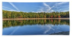 Clouds Over Walden Pond Beach Sheet by Brian MacLean