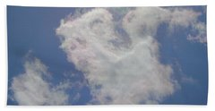 Clouds Rainbow Reflections Beach Sheet by Cindy Croal