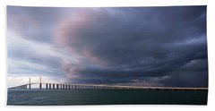Clouds Roll Over Sunshine Skyway Beach Sheet