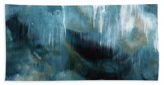 Clouds Rolling In- Abstract Art By Linda Woods Beach Towel