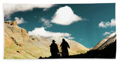 Clouds Way Kailas Kora Himalayas Tibet Yantra.lv Beach Towel