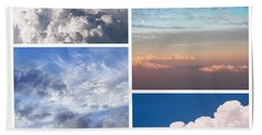 Beach Towel featuring the photograph Cloudscapes Collage by Jenny Rainbow
