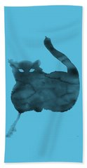 Beach Towel featuring the painting Cloudy Cat by Marc Philippe Joly
