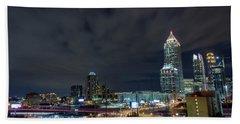 Cloudy City Beach Towel