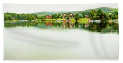 Cloudy Day On The Lake Beach Towel