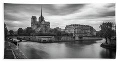 Cloudy Day On The Seine Beach Sheet