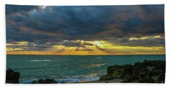 Cloudy Morning Rays Beach Towel by Tom Claud