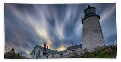 Cloudy Sunset At Pemaquid Point Beach Towel