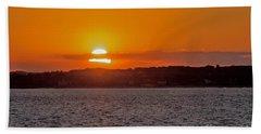 Cloudy Sunset Beach Sheet