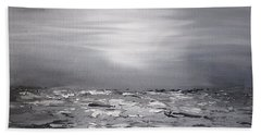 Cloudy Waves 10 Beach Towel