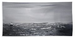 Cloudy Waves 4 Beach Towel