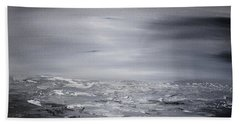 Cloudy Waves 6 Beach Towel