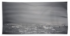 Cloudy Waves 7 Beach Towel