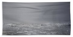 Cloudy Waves 8 Beach Towel
