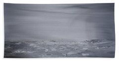 Cloudy Waves  Beach Towel