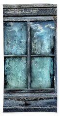 Beach Towel featuring the photograph Cloudy Window by Andrea Platt