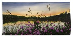 Clover Sunrise  Beach Towel